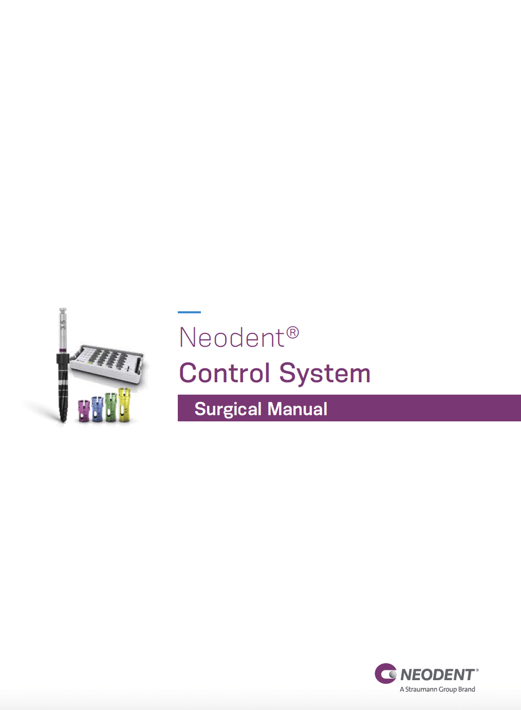 Neodent control system surgical manual (EN)